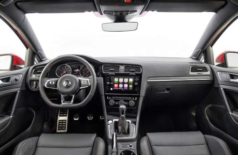 2018 Volkswagen Golf GTI steering, dashboard, transmission