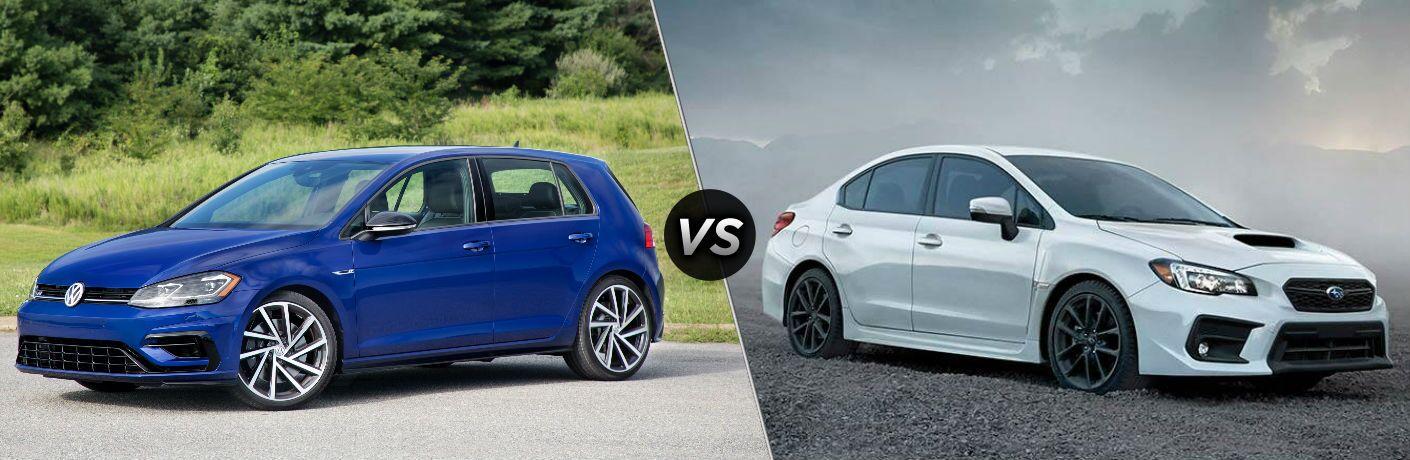 2018 Volkswagen Golf R vs 2019 Subaru WRX STI