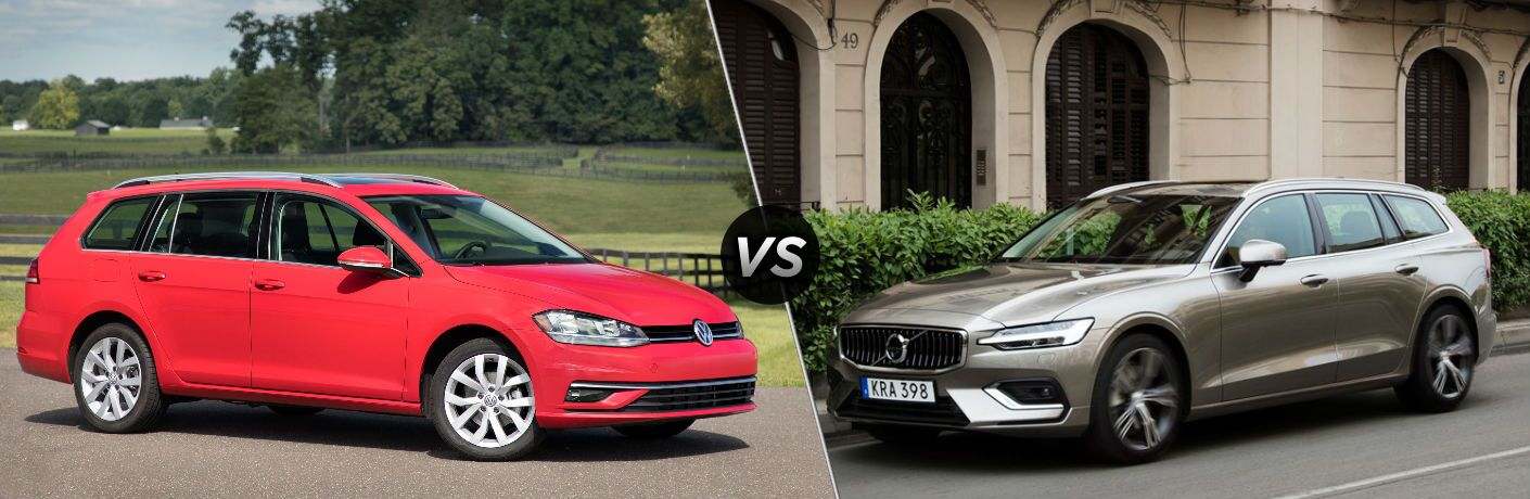 2018 Volkswagen Golf SportWagen vs 2018 Volvo V60
