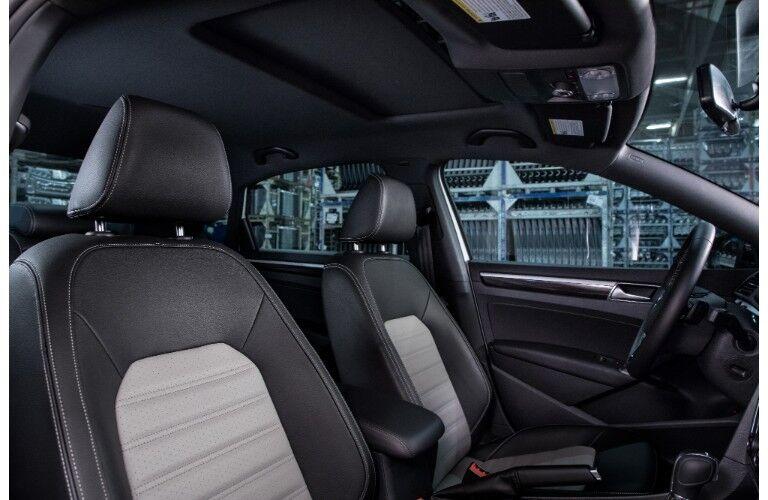 2018 Volkswagen Passat GT interior shote of front sport seats upholstery and design