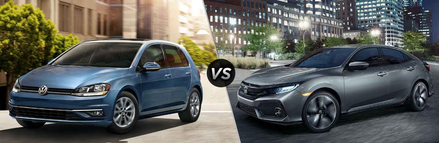 2018 Volkswagen Golf vs 2018 Honda Civic