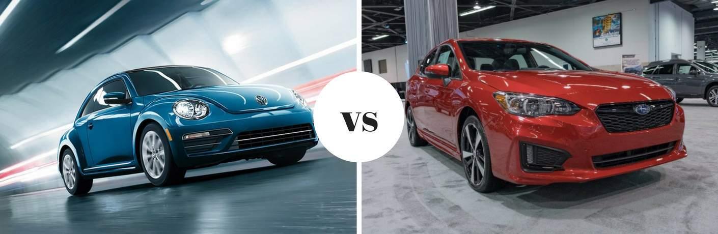 2018 Volkswagen Beetle vs 2018 Subaru Impreza