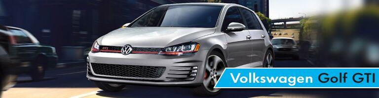 Volkswagen Golf GTI driving through traffic