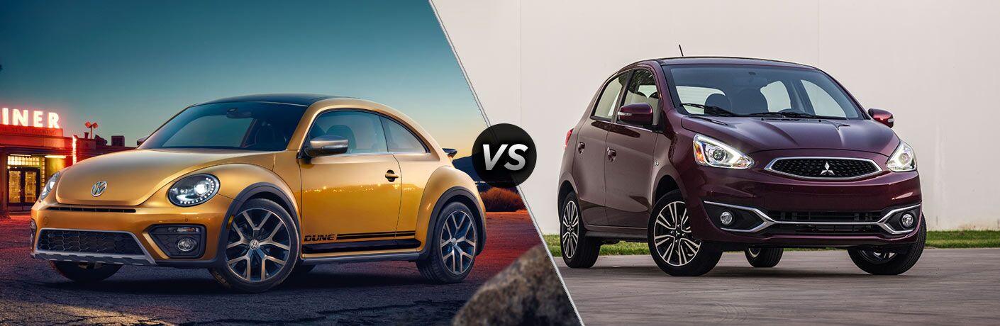 2017 Volkswagen Beetle vs 2017 Mitsubishi Mirage