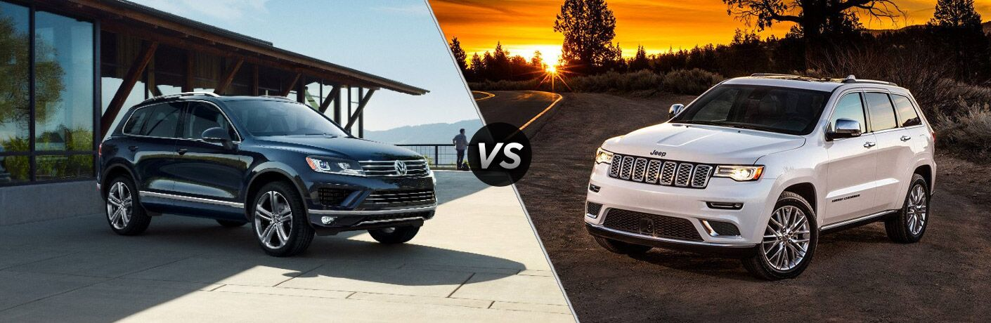 Compare the 2017 Volkswagen Touareg vs 2017 Jeep Grand Cherokee