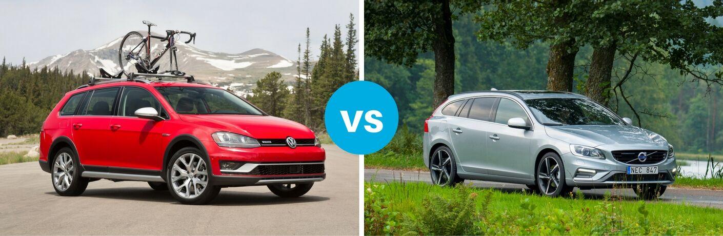 2017 Volkswagen Golf Alltrack Vs 2017 Volvo V60