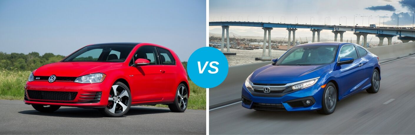 Differences between the 2017 Volkswagen Golf vs 2017 Honda Civic