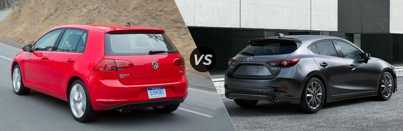 2017 Volkswagen Golf vs 2017 Mazda3 Hatchback