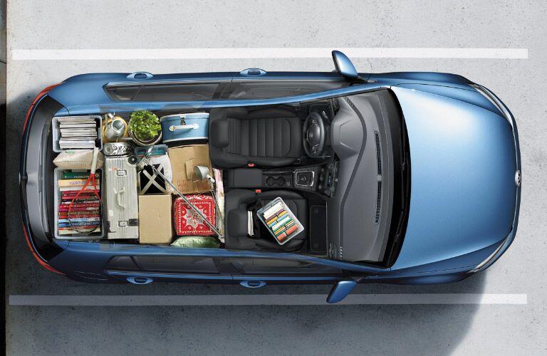 2016 Volkswagen Golf Union County NJ summit nj chatham nj new providence nj madison nj union nj newark nj cargo space cargo room folding rear seat cargo space