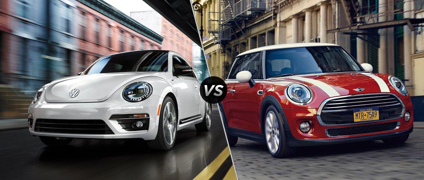 2016 Volkswagen Beetle vs 2016 Mini Cooper Hardtop 2-Door