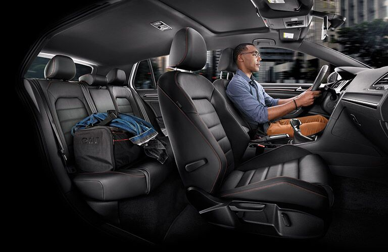 interior seating space room in the 2016 vw golf gti
