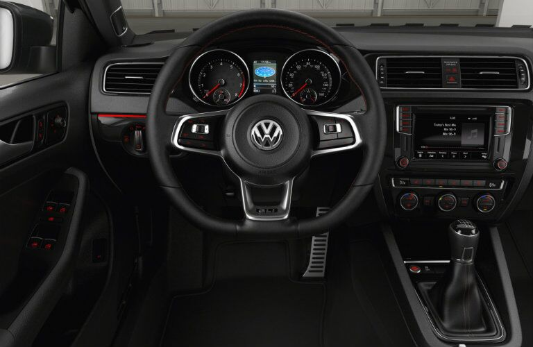 2016 vw jetta gli interior design with red accents