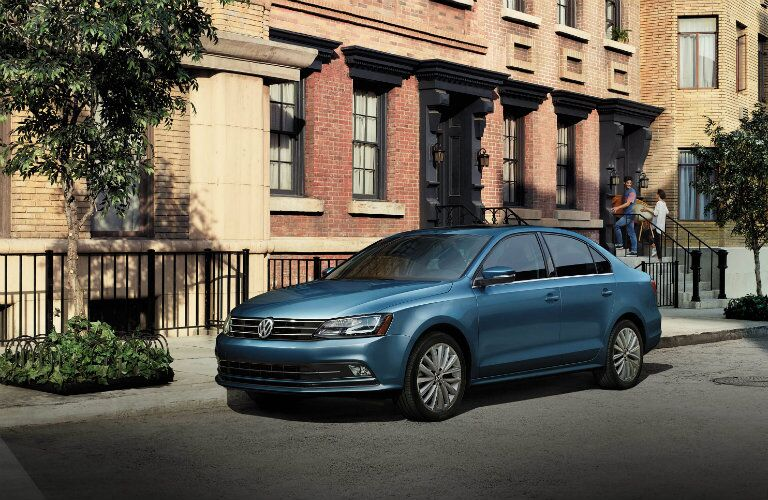 2016 vw jetta with blue paint color