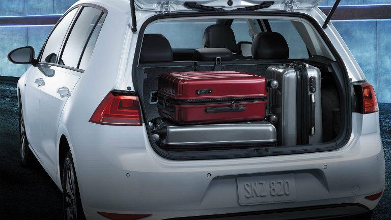 rear cargo hatch space in the 2016 vw e-golf