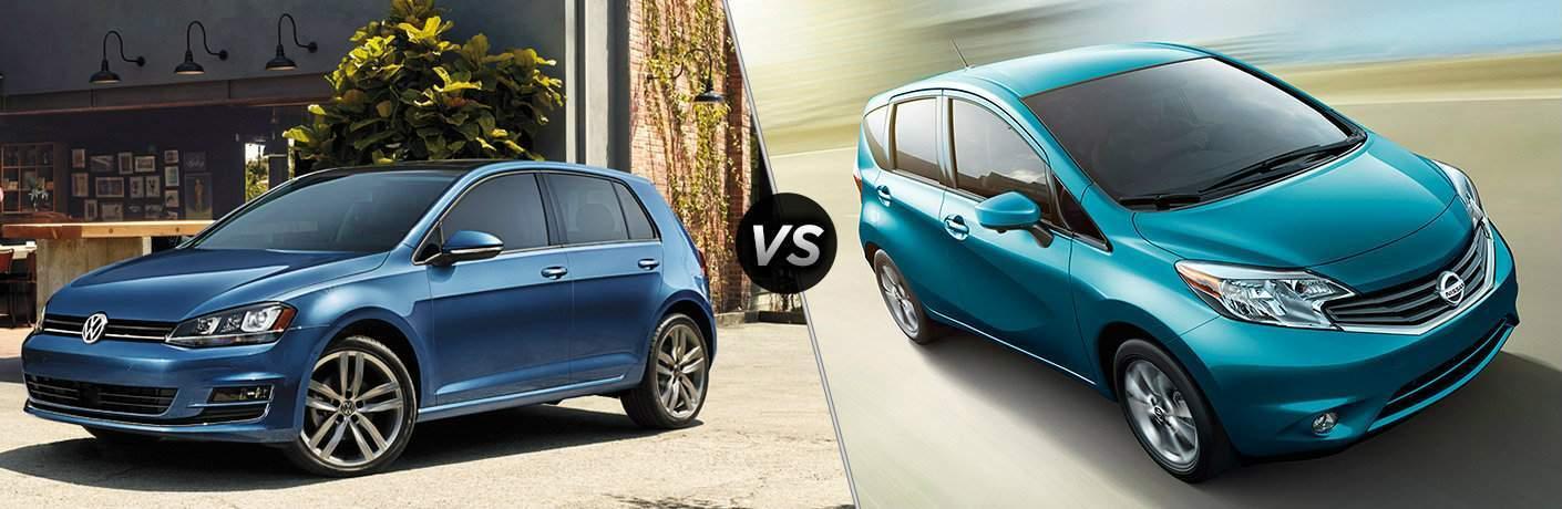 2017 Volkswagen Golf vs 2017 Nissan Versa Note