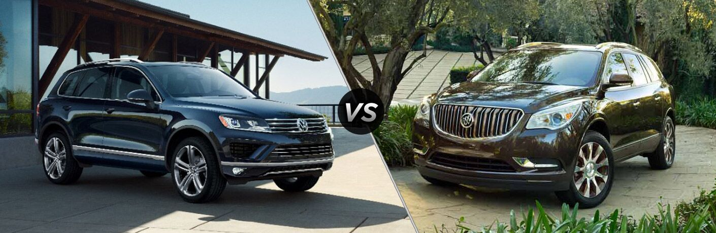 2017 Volkswagen Touareg vs 2017 Buick Enclave