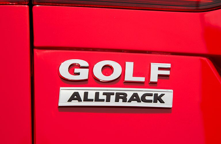 vw golf alltrack badging