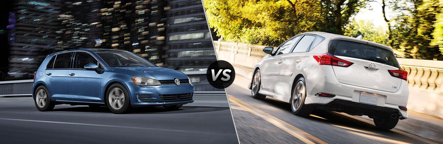 2017 Volkswagen Golf vs 2017 Toyota Corolla iM