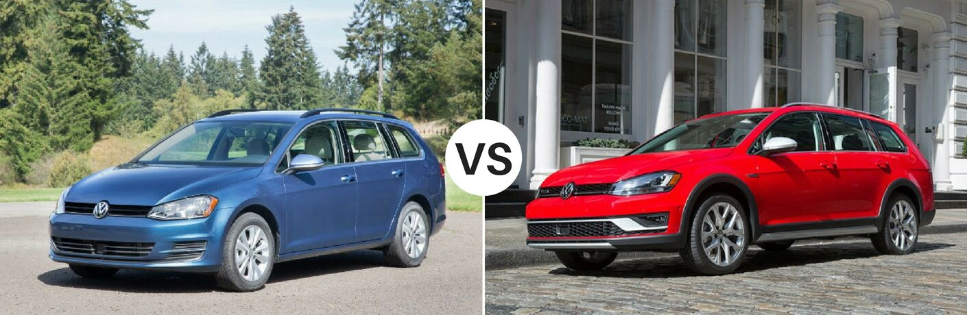 2017 Volkswagen Golf Sportwagen Vs Alltrack