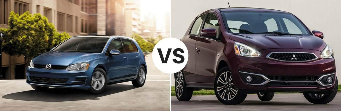 2017 Volkswagen Golf vs 2017 Mitsubishi Mirage