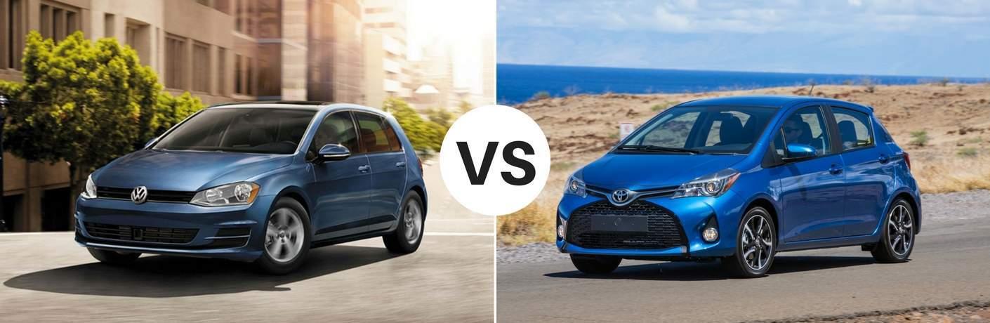 2017 Volkswagen Golf vs 2017 Toyota Yaris