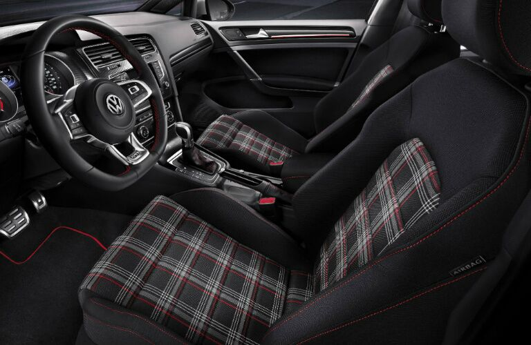2017 vw golf gti with clark plaid seats