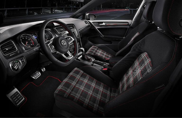clark plaid seats in the golf gti interior