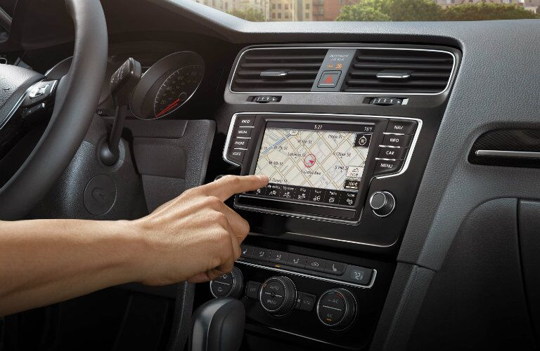 2017 vw golf with touchscreen navigation system
