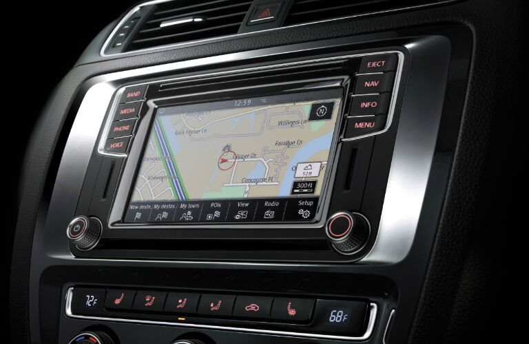 vw jetta with discover media touchscreen navigation
