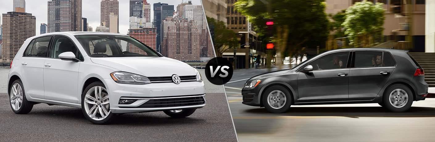 2018 Volkswagen Golf vs 2017 Volkswagen Golf