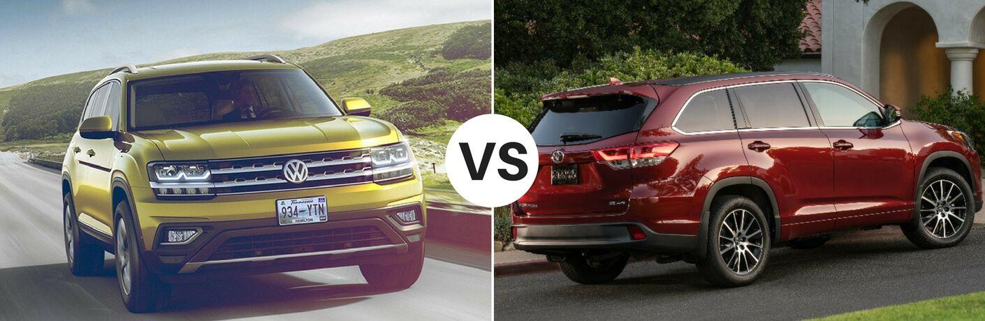 2018 Volkswagen Atlas vs 2017 Toyota Highlander