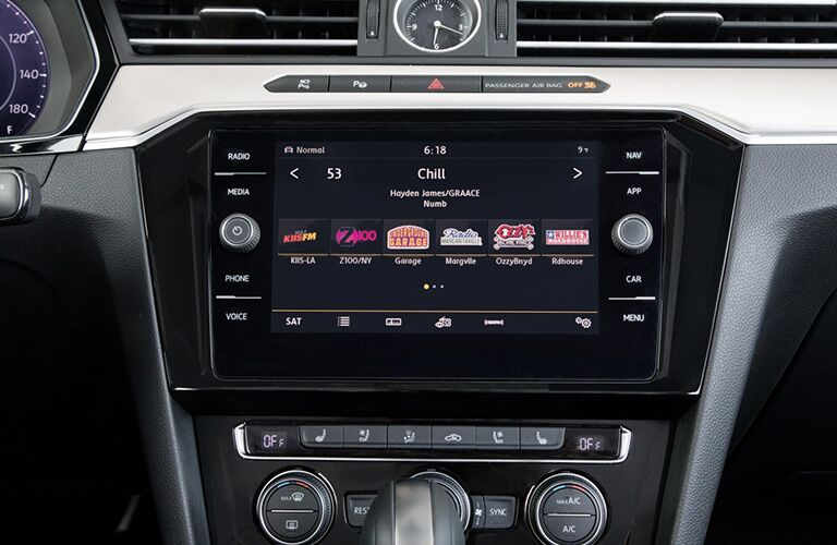 2019 VW Arteon interior close up of display screen and controls