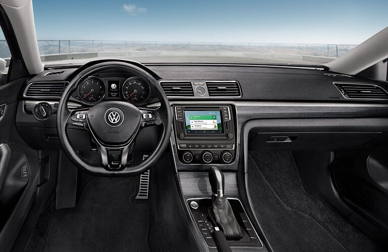 2016 vw passat dashboard design with touchscreen android auto