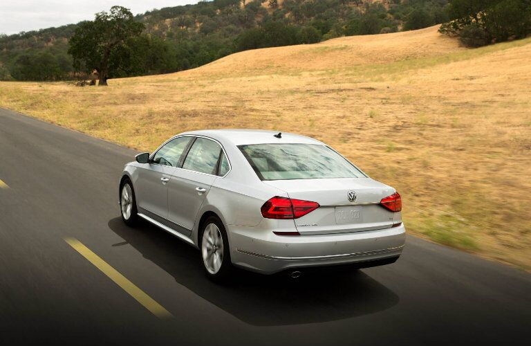 new rear bumper design on the 2016 vw passat