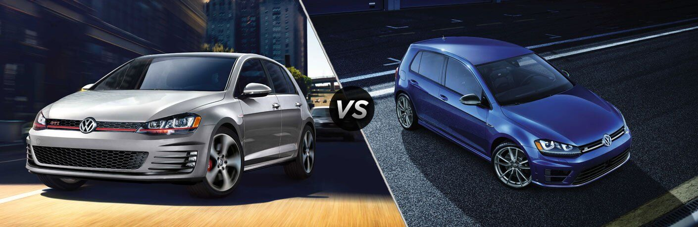2017 vw golf gti vs 2017 vw golf r