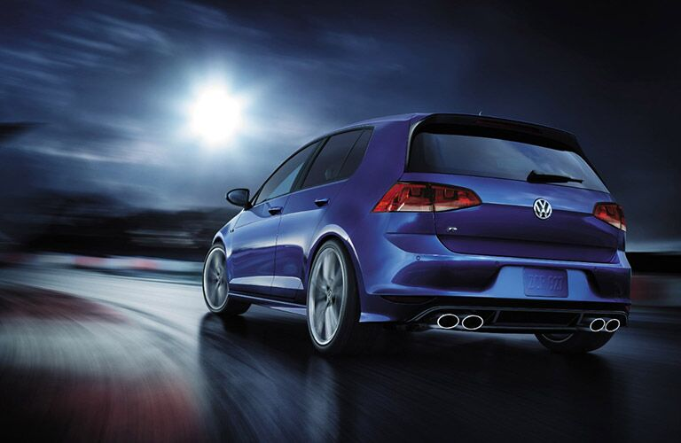2017 vw golf r driving on the track
