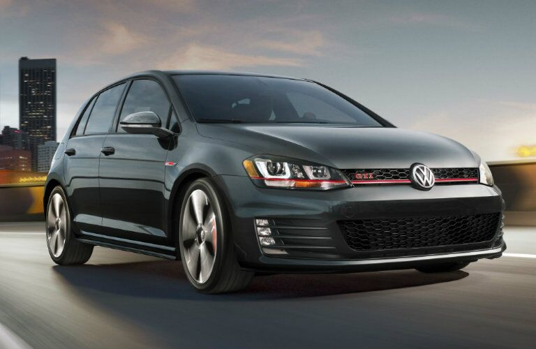 2017 vw golf gti driving on the highway