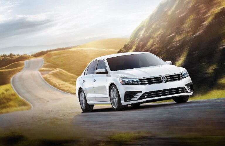 vw passat r-line in white exterior paint color