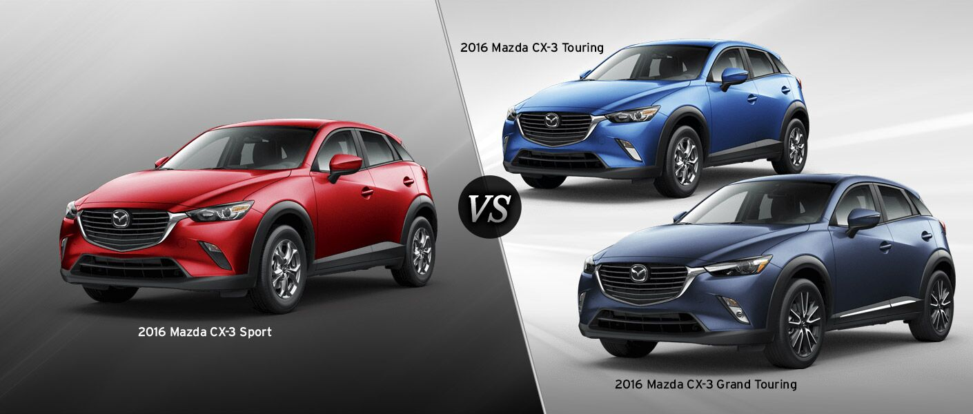 2016 mazda cx 3 trim comparison. Black Bedroom Furniture Sets. Home Design Ideas