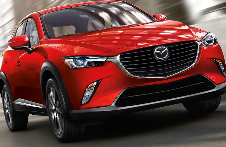 Exterior View of the 2017 Mazda CX-3 in Red
