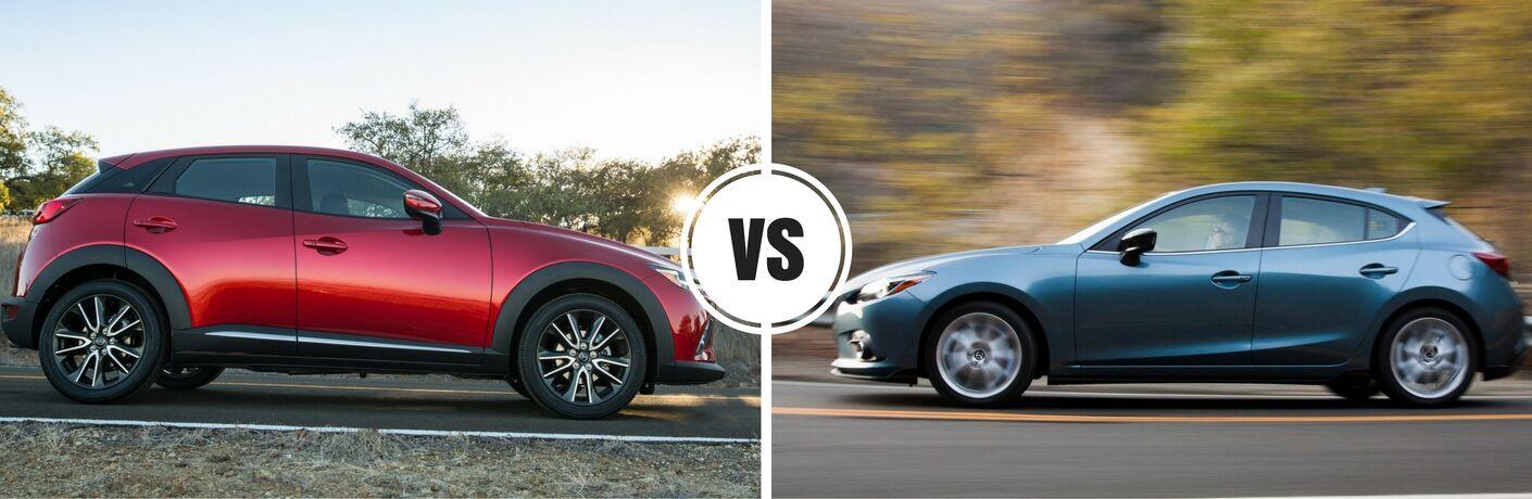2017 Mazda CX-3 vs 2016 Mazda3 hatchback