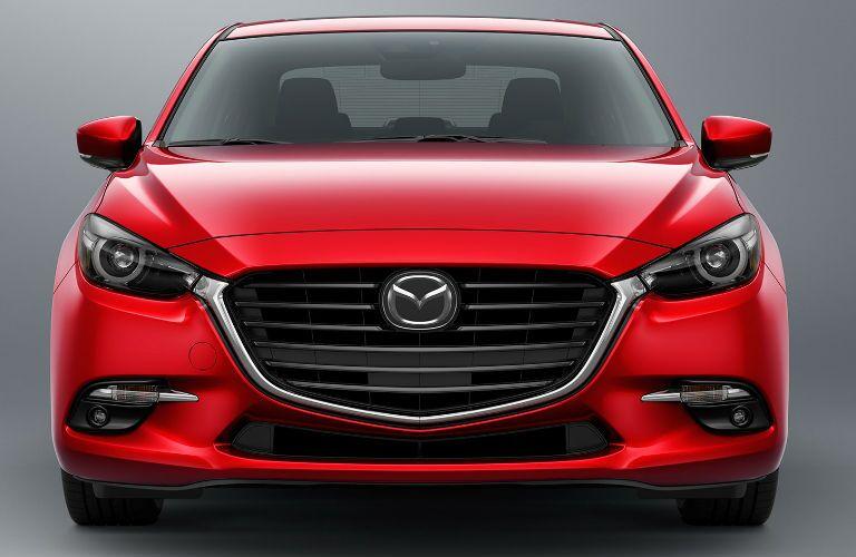 2017 Mazda3 4-Door Front End View in Red