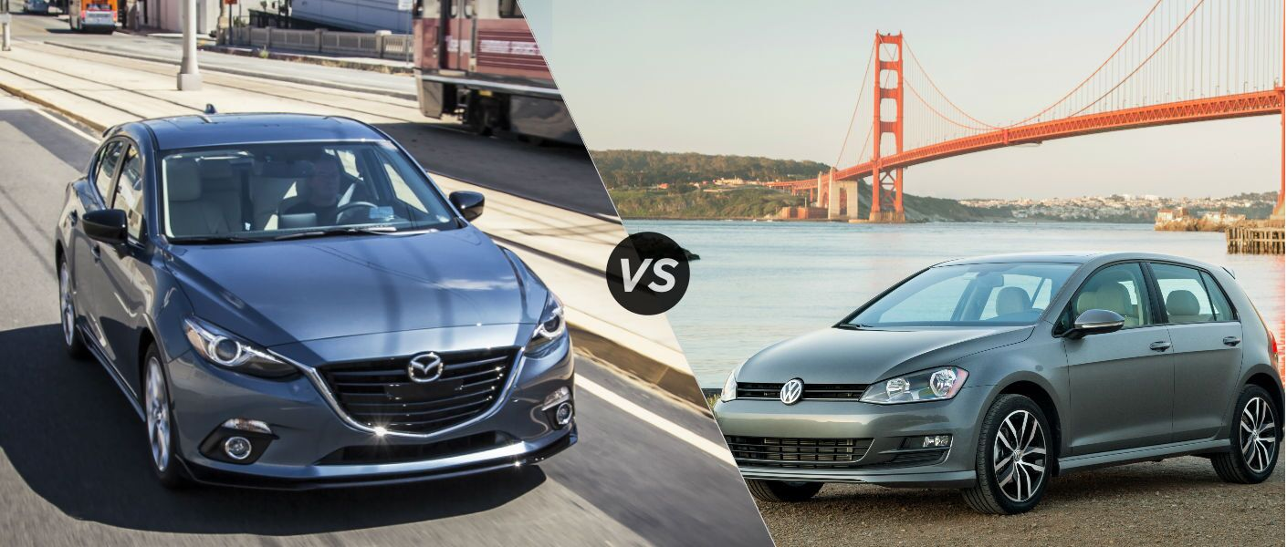 2015 Mazda 3 Hatchback Vs 2015 Volkswagen Golf