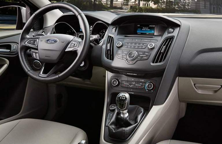 Interior of the Ford Focus in Tan and Black