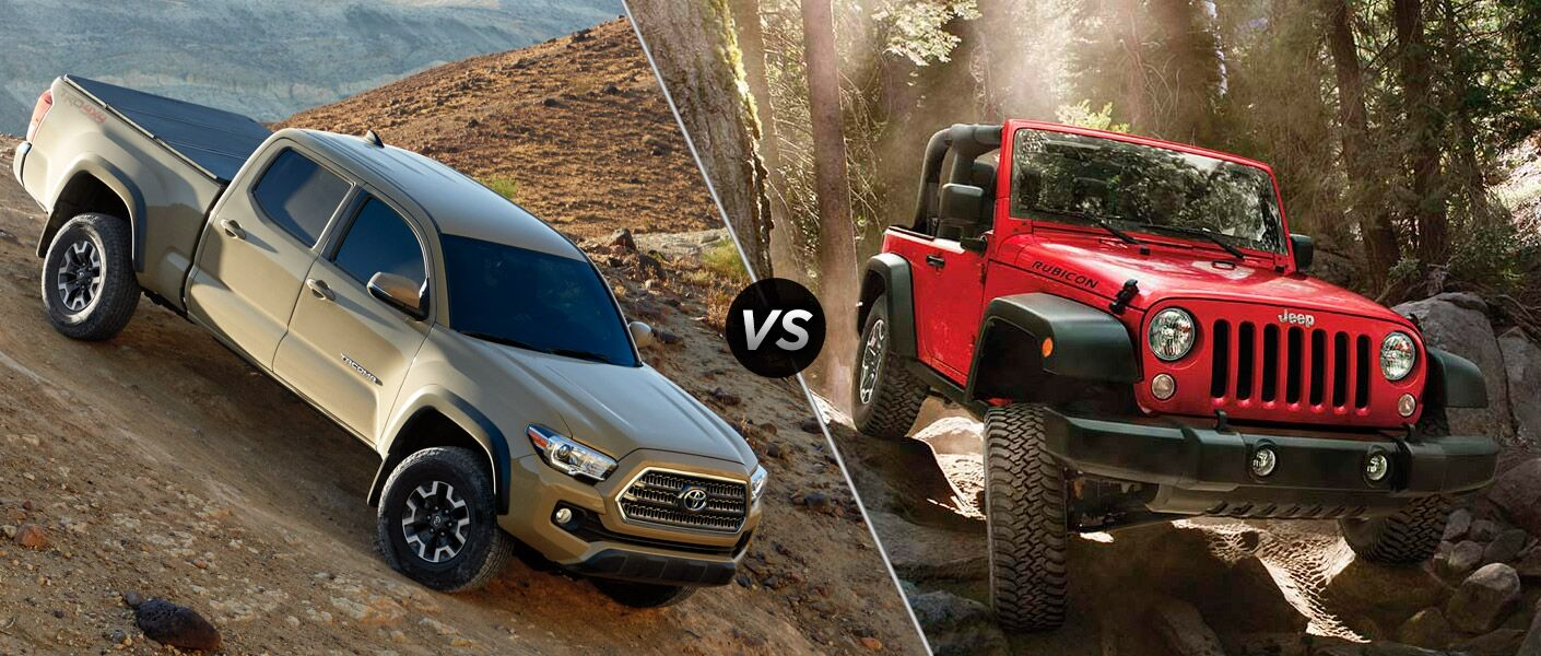 2016 toyota tacoma trd off-road vs 2016 jeep wrangler | near