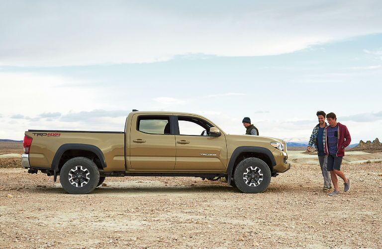 Side View of the 2017 Toyota Tacoma in Tan