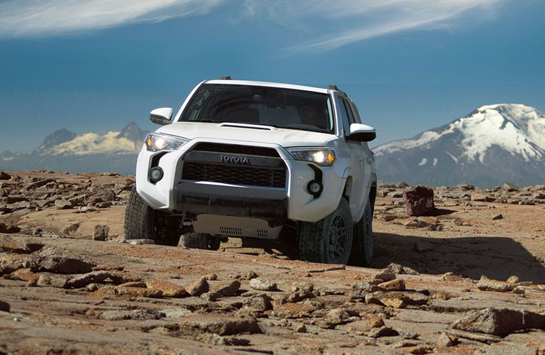 2017 Toyota 4Runner TRD PRO Front End View in White