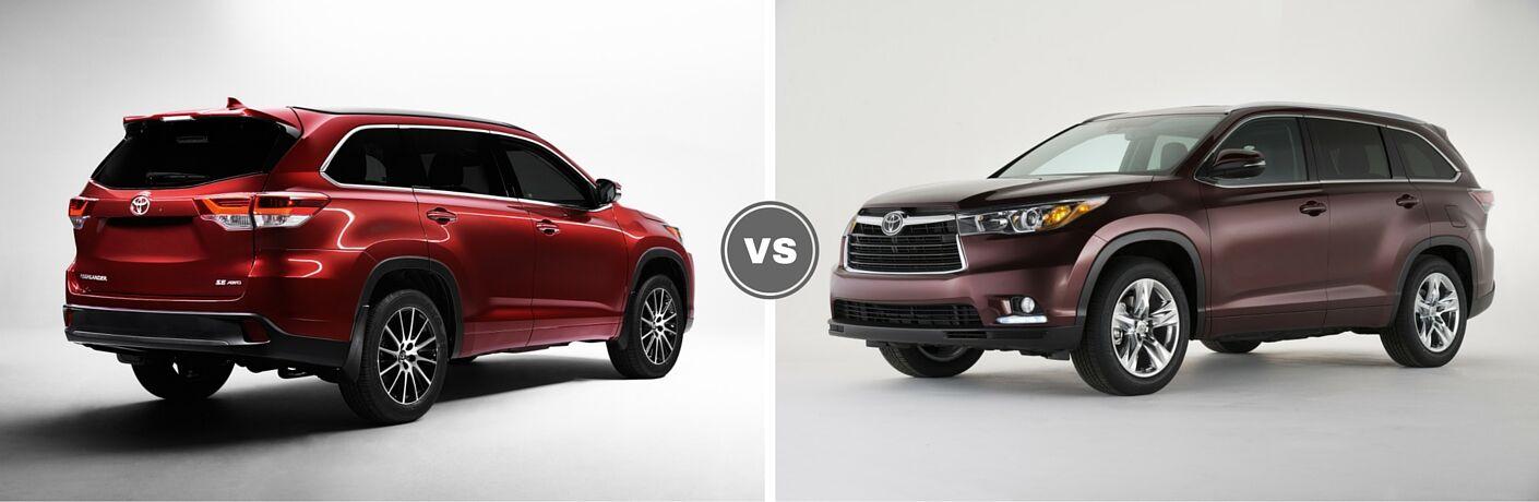 2017 Toyota Highlander vs 2016 Toyota Highlander