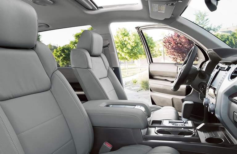 2018 toyota tundra interior. exellent tundra 2018 toyota tundra interior view of front seating and dash in gray and toyota tundra interior