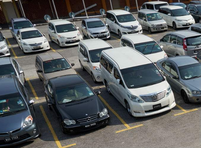 Used Cars in Parking Lot in Sunshine